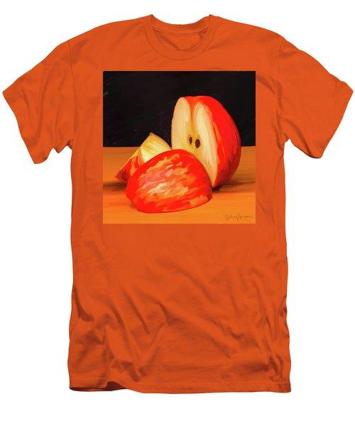 Apple Study 01 Men's T-Shirt (Slim Fit) by Wally Hampton