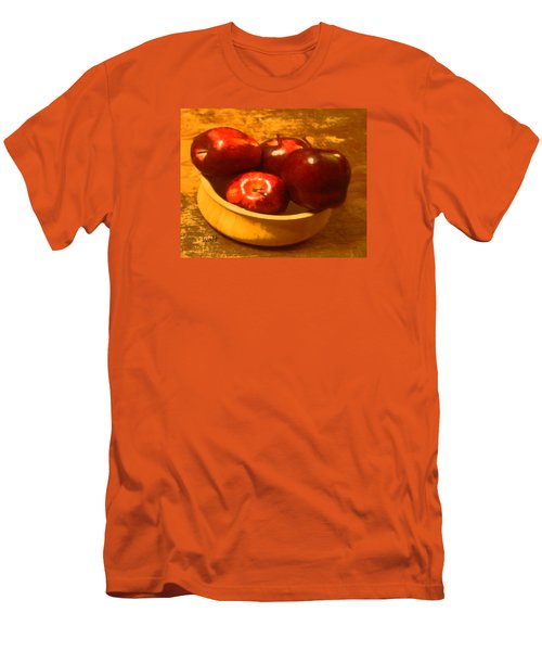 Apples In A Bowl Men's T-Shirt (Slim Fit) by Walter Chamberlain