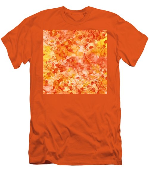 Apricot Delight  Men's T-Shirt (Slim Fit) by Patricia Lintner