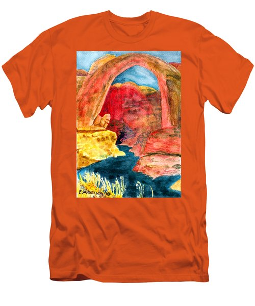Men's T-Shirt (Slim Fit) featuring the painting Arizona Rainbow by Eric Samuelson