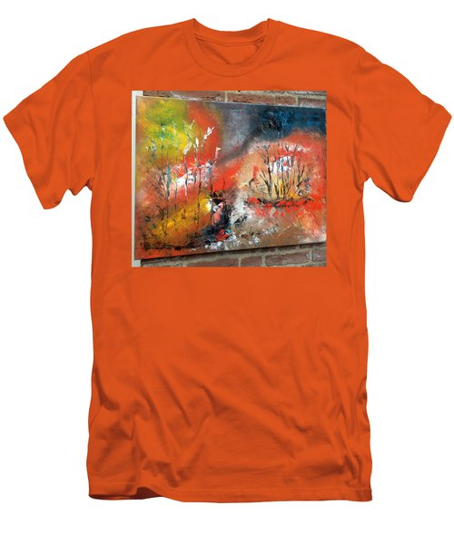 Men's T-Shirt (Slim Fit) featuring the painting Art Work by Sheila Mcdonald