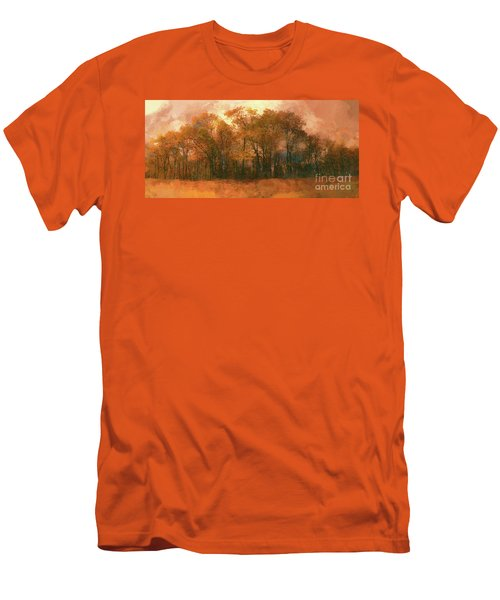 Men's T-Shirt (Slim Fit) featuring the photograph Artistic Fall Colors In The Blue Ridge Fx by Dan Carmichael