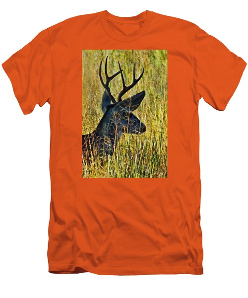 The Buck Rests Here Men's T-Shirt (Slim Fit) by Bill Kesler