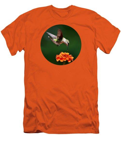 Hummingbird Bullseye Men's T-Shirt (Slim Fit) by Christina Rollo