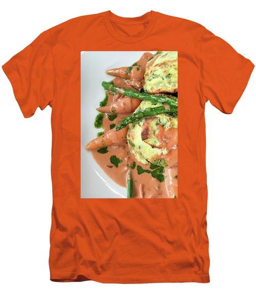 Asparagus Dish Men's T-Shirt (Athletic Fit)