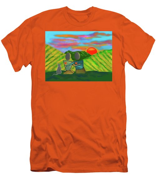At The Vineyard Men's T-Shirt (Slim Fit) by Haleh Mahbod