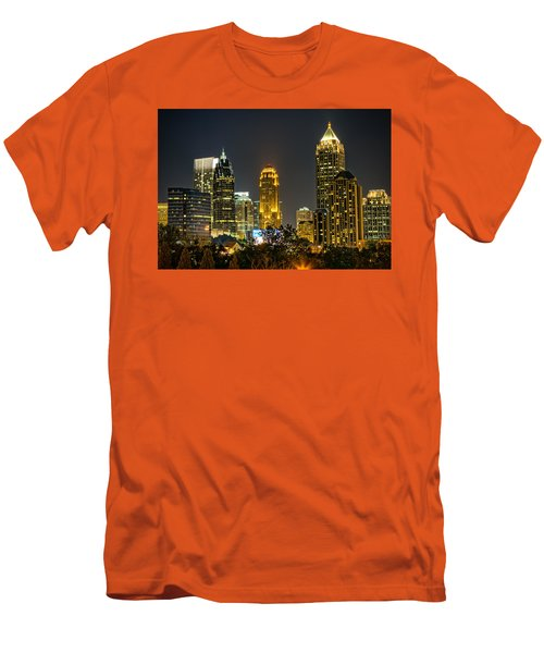 Men's T-Shirt (Slim Fit) featuring the photograph Atlanta Skyscrapers  by Anna Rumiantseva