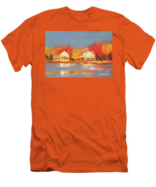 Atsion Lake Men's T-Shirt (Slim Fit) by Mary Hubley