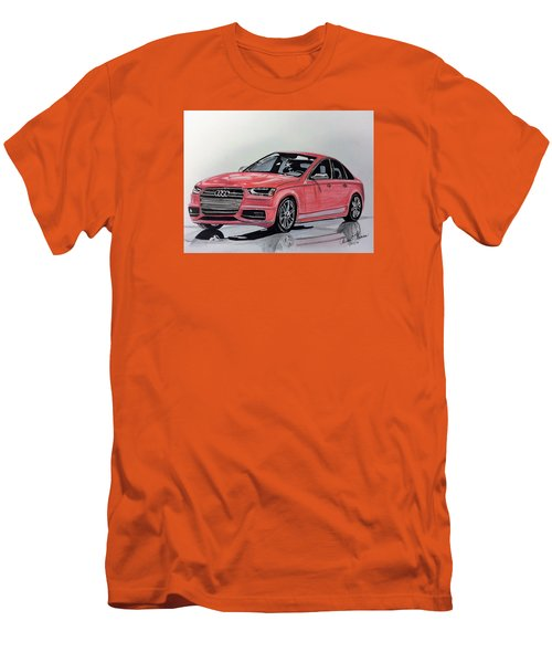 Men's T-Shirt (Slim Fit) featuring the mixed media Audi S4 by Kevin F Heuman