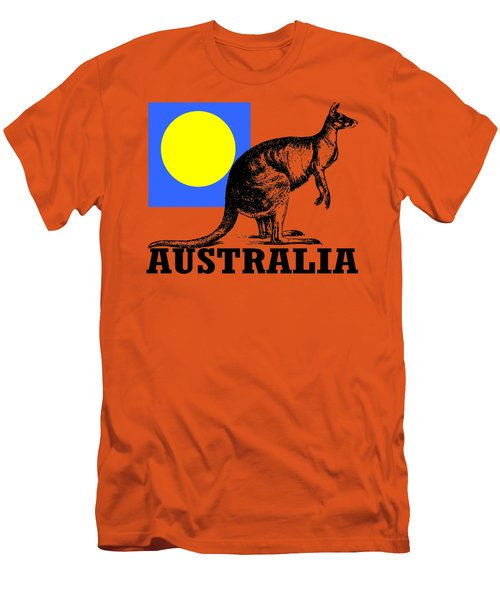 Australia-kangaroo Men's T-Shirt (Athletic Fit)