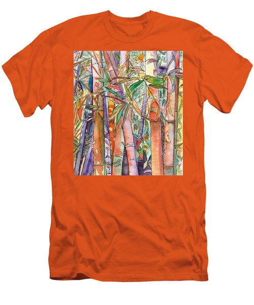 Men's T-Shirt (Slim Fit) featuring the painting Autumn Bamboo by Marionette Taboniar