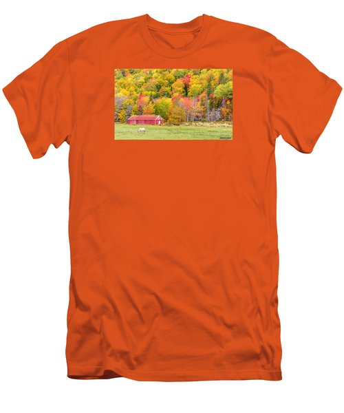 Autumn Colors Near Lake Ainslie  Men's T-Shirt (Slim Fit) by Ken Morris
