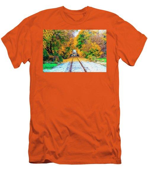 Men's T-Shirt (Slim Fit) featuring the photograph Autumn Days by Jim Lepard