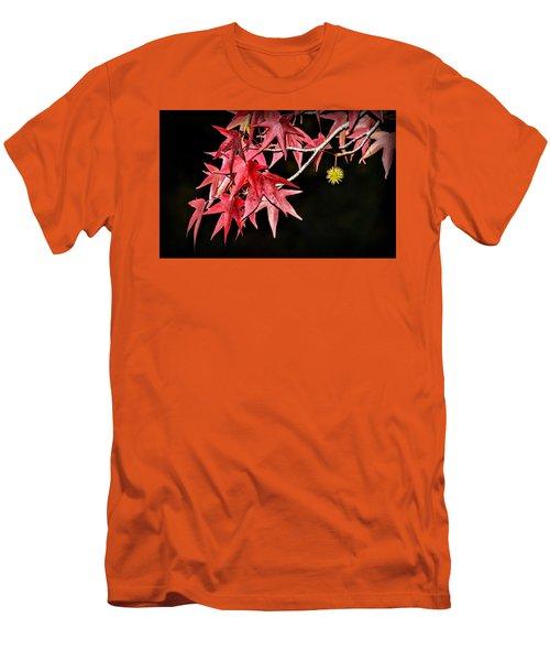 Men's T-Shirt (Athletic Fit) featuring the photograph Autumn Fire by AJ Schibig