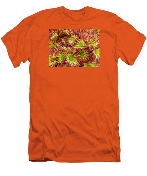 Autumn Flowers Men's T-Shirt (Slim Fit) by Lyric Lucas