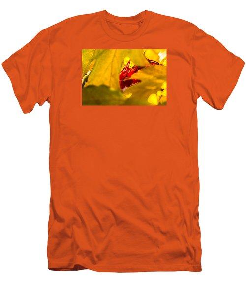 Men's T-Shirt (Slim Fit) featuring the photograph Autumn Fruits - Viburnum Berries by Alexander Senin