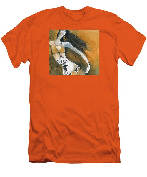 Men's T-Shirt (Slim Fit) featuring the painting Autumn Golds by Maya Manolova