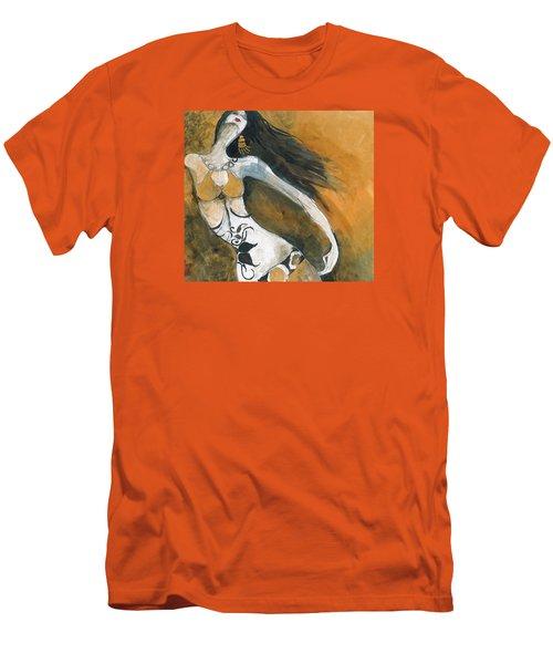 Autumn Golds Men's T-Shirt (Slim Fit) by Maya Manolova