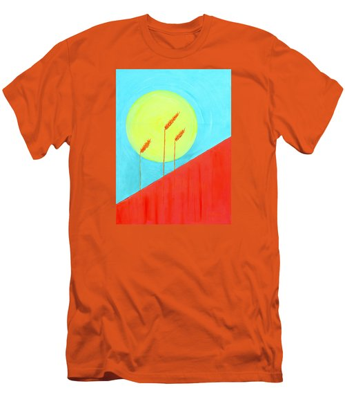 Men's T-Shirt (Slim Fit) featuring the painting Autumn Harvest by J R Seymour