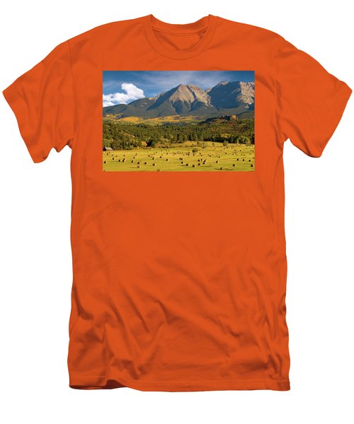 Autumn Hay In The Rockies Men's T-Shirt (Athletic Fit)