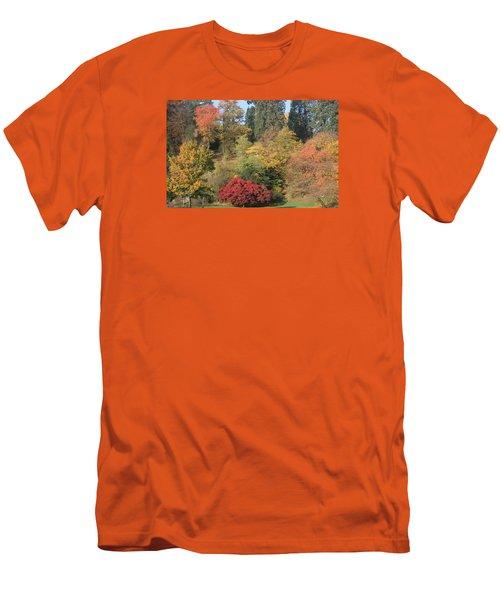 Autumn In Baden Baden Men's T-Shirt (Slim Fit) by Travel Pics