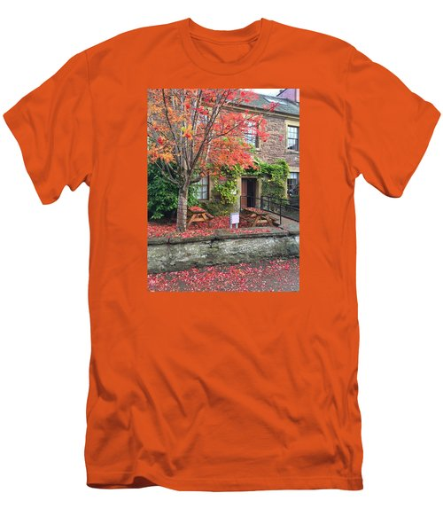 Men's T-Shirt (Slim Fit) featuring the photograph Autumn In Dunblane by RKAB Works