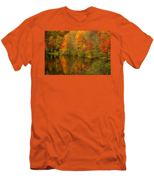 Autumn In Monroe Men's T-Shirt (Slim Fit) by Karol Livote