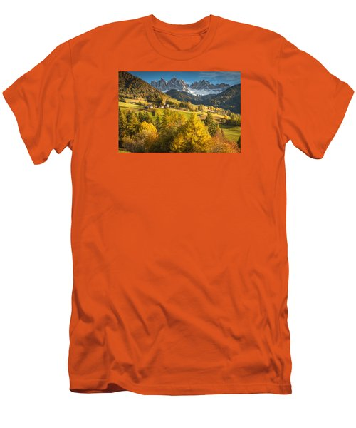 Autumn In The Alps Men's T-Shirt (Athletic Fit)