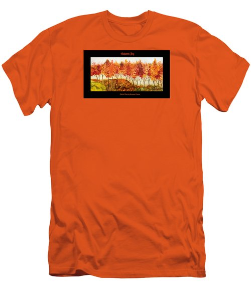 Men's T-Shirt (Slim Fit) featuring the painting Autumn Joy by Suzanne Canner