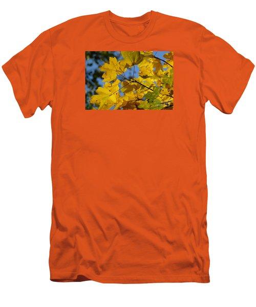 Men's T-Shirt (Slim Fit) featuring the photograph Autumn Leaves by Jean Bernard Roussilhe