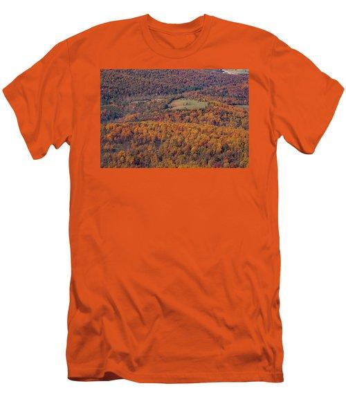 Autumn Mountain Side Men's T-Shirt (Athletic Fit)