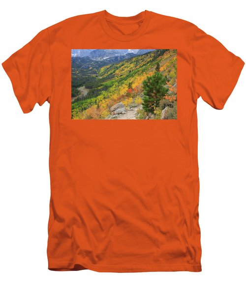 Men's T-Shirt (Slim Fit) featuring the photograph Autumn On Bierstadt Trail by David Chandler