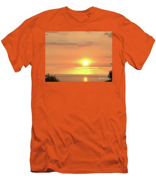 Autumn Sunset Men's T-Shirt (Athletic Fit)