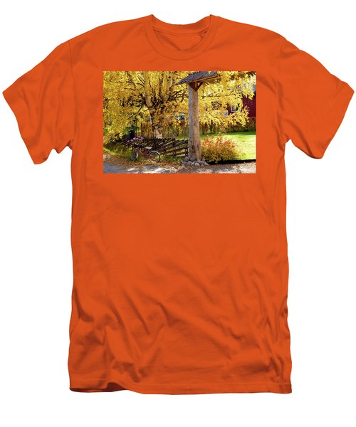 Rural Rustic Autumn Men's T-Shirt (Slim Fit) by Tamara Sushko