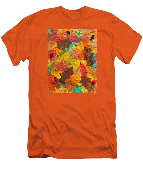 Autumn Leaves Underfoot Men's T-Shirt (Slim Fit) by Michele Myers