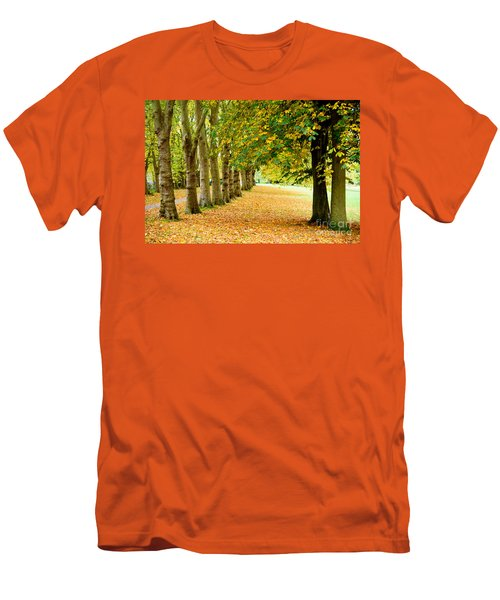 Autumn Walk Men's T-Shirt (Slim Fit) by Colin Rayner