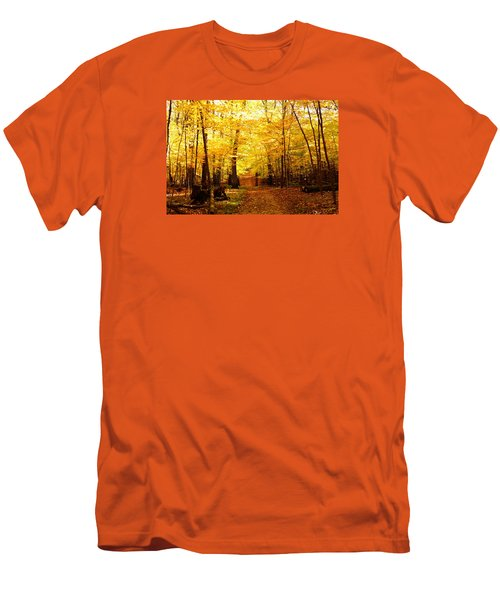 Men's T-Shirt (Slim Fit) featuring the photograph Autumns Blaze by Steven Clipperton