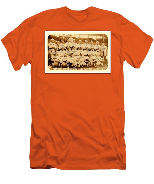 Men's T-Shirt (Athletic Fit) featuring the photograph Babe Ruth Boston Red Sox American League Champions Season 1915 by Peter Gumaer Ogden
