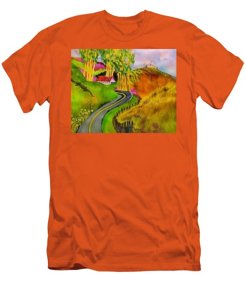 Backroads Sonoma County  Men's T-Shirt (Athletic Fit)