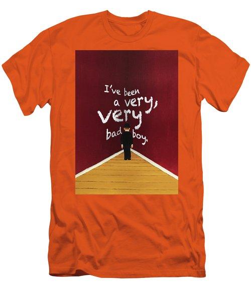 Bad Boy Greeting Card Men's T-Shirt (Slim Fit)