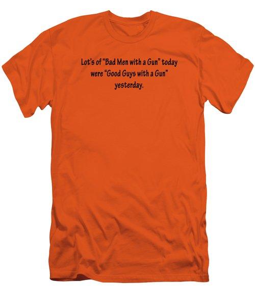 Bad Men With Guns Men's T-Shirt (Athletic Fit)