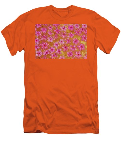 Balinese Flowers Men's T-Shirt (Slim Fit) by Cassandra Buckley
