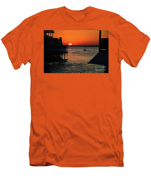 Bayou Vista Sunset Men's T-Shirt (Athletic Fit)