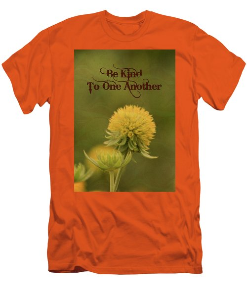 Be Kind To One Another Men's T-Shirt (Slim Fit) by Trish Tritz