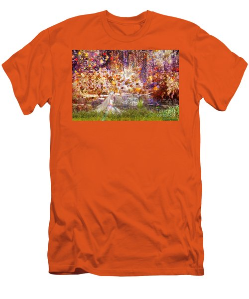 Men's T-Shirt (Slim Fit) featuring the digital art Be Still And Know by Dolores Develde