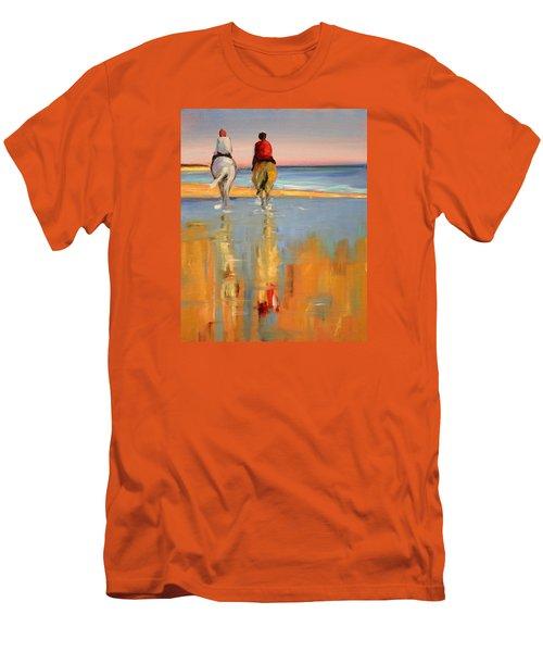 Beach Riders Men's T-Shirt (Slim Fit) by Trina Teele
