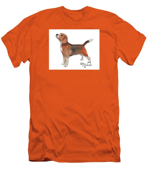 Beagle Watercolor Painting By Kmcelwaine Men's T-Shirt (Athletic Fit)