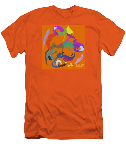 Men's T-Shirt (Slim Fit) featuring the painting Bear  by Go Van Kampen