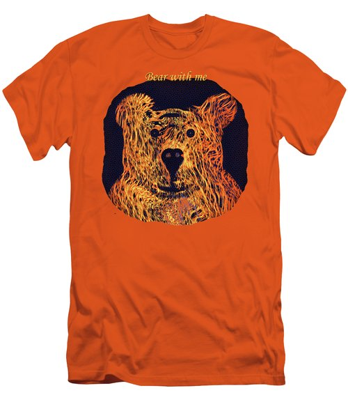 Bear With Me Men's T-Shirt (Slim Fit) by John M Bailey