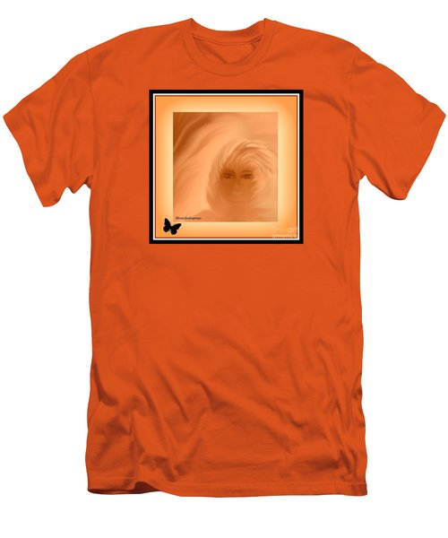 Men's T-Shirt (Slim Fit) featuring the painting Beautiful Is In The Eyes Of The Beholder By Sherriofpalmsprings by Sherri  Of Palm Springs